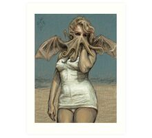 """Call of Cthulyn, 2014""  Art Print"