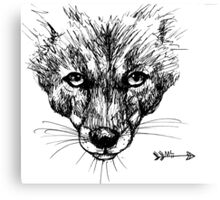 The Fox - Ink Drawing Canvas Print