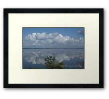 Blue Sky Reflection Framed Print