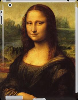 Mona Lisa, Leonardo da Vinci, iPad Case by Cherie Balowski