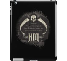 Haunted Mansion Retro Sign Design by Topher Adam for iPad iPad Case/Skin