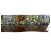 River Wharfe Reflections Poster