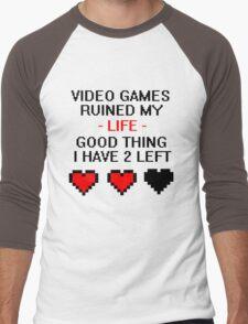 Video Games Ruined My Life Men's Baseball ¾ T-Shirt