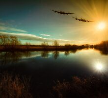 Lancaster Bombers by UKGh0sT