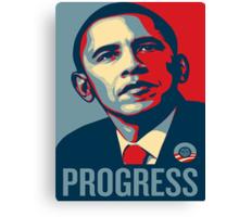 Obama Progress Canvas Print
