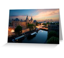 Sunset at the Rijksmuseum Greeting Card