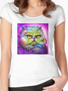 LouLou, persian cat Women's Fitted Scoop T-Shirt