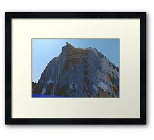 The Cliffs - Minecraft 3D Render Framed Print