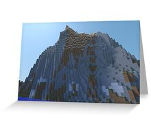 The Cliffs - Minecraft 3D Render Greeting Card