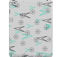 Gray Atomic Retro Fifties Patterns, iPad Case iPad Case/Skin