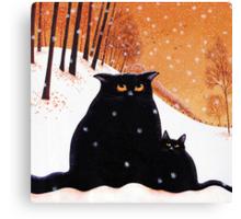 Lou-Lou and Lolas' snowflake wish. Canvas Print