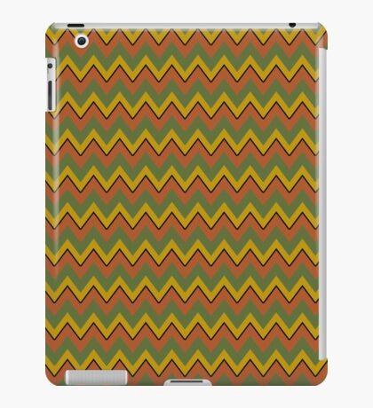 Golds and Greens Chevron Trendy iPad Case iPad Case/Skin