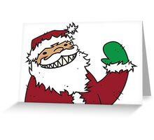 Santa Claws + Teeth Greeting Card