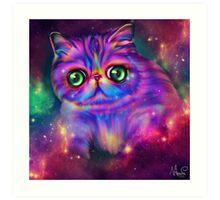 Rainbow kitty Art Print