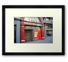 Strand Station, London Framed Print