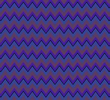 Purple and Periwinkle Chevron Stripes, Trendy iPad Case by Cherie Balowski