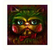 Jigsaw Kitty Art Print