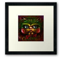 Jigsaw Kitty Framed Print