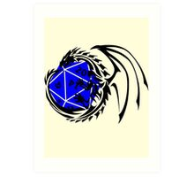 Dungeons and Dragons - Black and Blue! Art Print