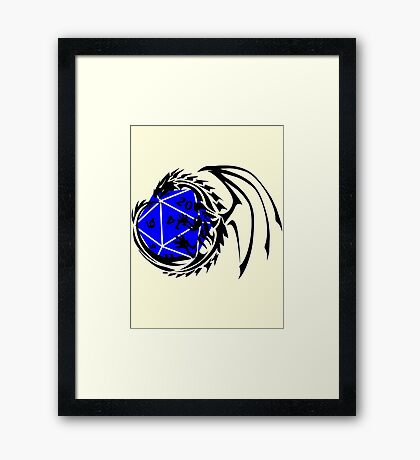 Dungeons and Dragons - Black and Blue! Framed Print