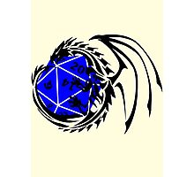 Dungeons and Dragons - Black and Blue! Photographic Print