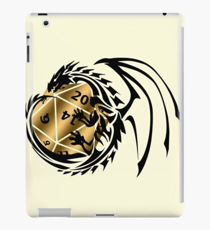 Dungeons and Dragons - Black and Gold! iPad Case/Skin