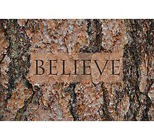Believe Tree Photographic Print
