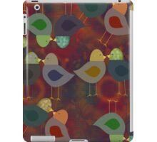 Textured Look Chatter Birds, iPad Case iPad Case/Skin