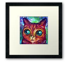 Alien cat Matilda Framed Print