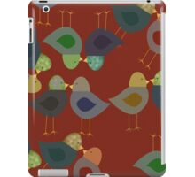 Red Textured Whimsical Birds iPad Case iPad Case/Skin