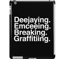 The Four Elements of Hip Hop iPad Case/Skin