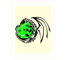 Dungeons and Dragons - Black and Green! Art Print
