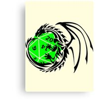 Dungeons and Dragons - Black and Green! Canvas Print