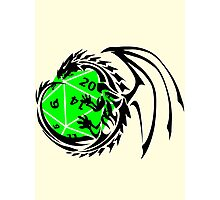 Dungeons and Dragons - Black and Green! Photographic Print