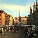 Piazza Navona in Rome by kirilart
