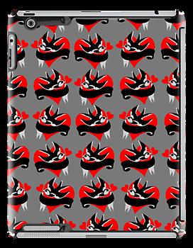 Rockabilly Go Wild iPad Cover by patjila