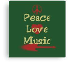 Vintage Peace,Love,Music Canvas Print