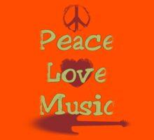 Vintage Peace,Love,Music Kids Clothes