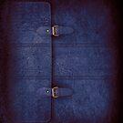 Blue Leather Satchel by Alisdair Binning