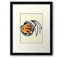 Dungeons and Dragons - Black and Orange! Framed Print