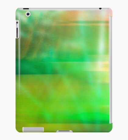 Abstract Art in Green iPad Case/Skin