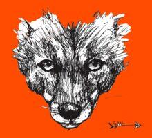 The Fox - Ink Drawing Kids Tee