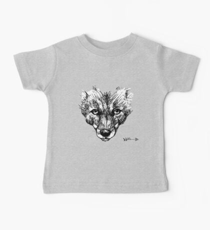The Fox - Ink Drawing Baby Tee