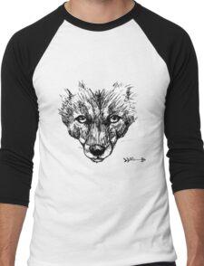 The Fox - Ink Drawing Men's Baseball ¾ T-Shirt