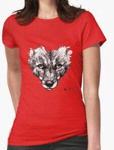 The Fox - Ink Drawing Womens Fitted T-Shirt