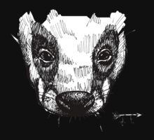 The Badger - Ink Drawing Kids Tee
