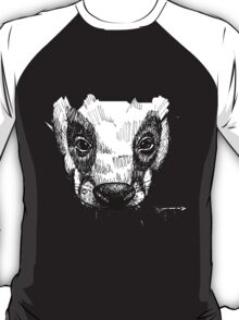 The Badger - Ink Drawing T-Shirt