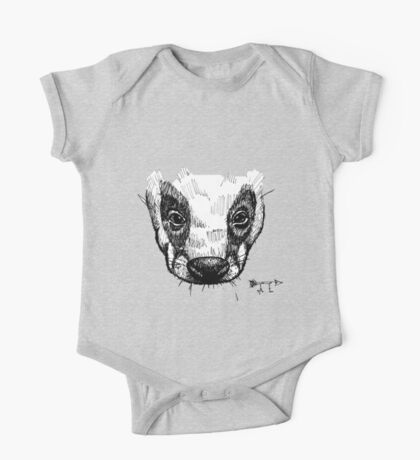 The Badger - Ink Drawing One Piece - Short Sleeve