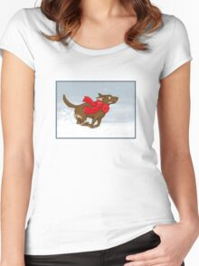 It's snowing! Women's Fitted Scoop T-Shirt