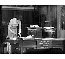 "Sweet Potato Stall: ""Where we grow up"" Photographic Print"
